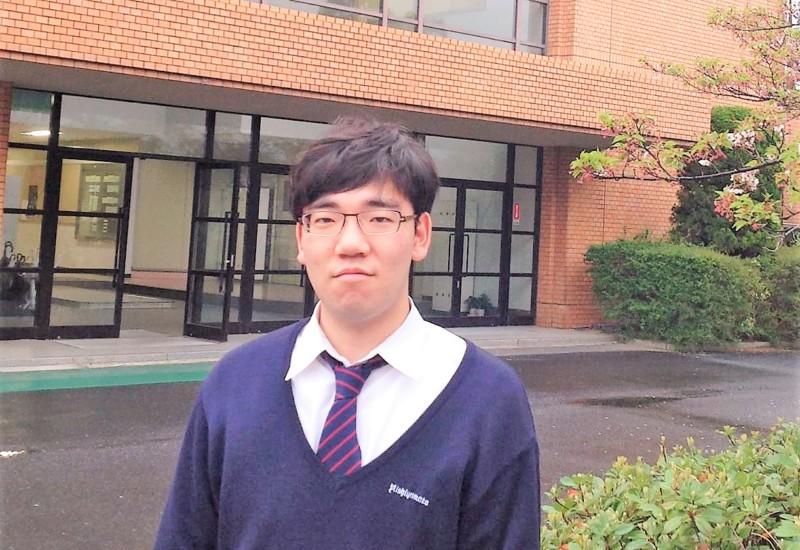 西大和学園高等学校3年生 安田有輝さん