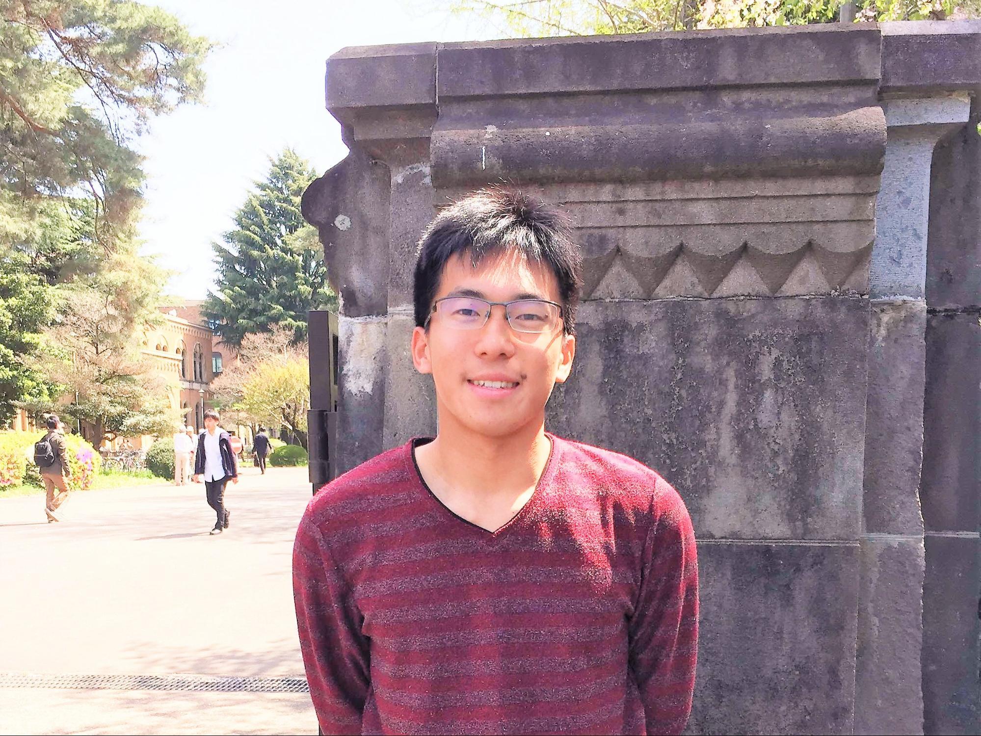 一橋大学社会学部2年生 渋谷教育学園渋谷中学高等学校2015年卒 武本真司さん