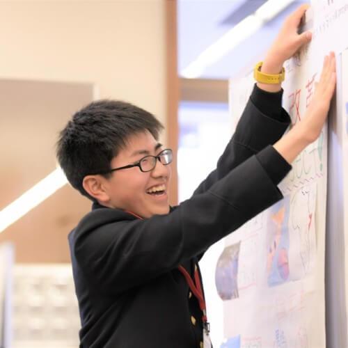 湯川くん (2018年度 プレゼン大会「ガッツ」大阪にて)