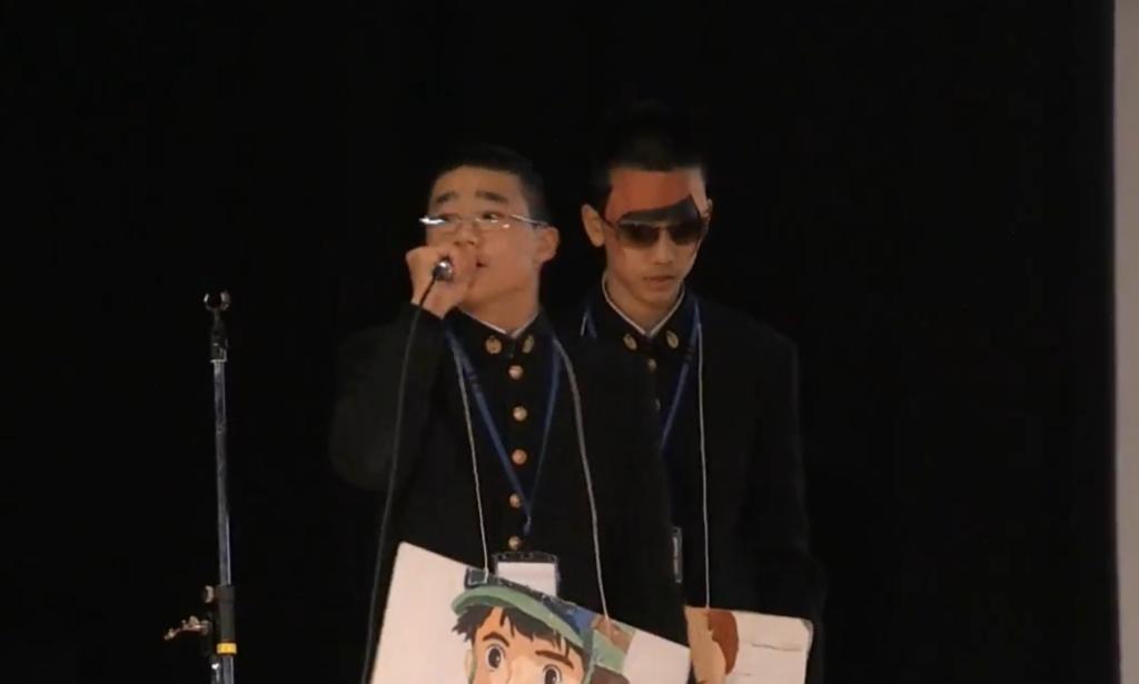 2018年ソーシャルチェンジ グランプリ受賞時の発表 (左)赤羽くん(右)野澤くん