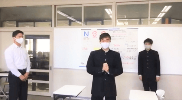 東福岡⾼等学校 チーム「BISH ( ⽝ )」 作品名「⾼校⽣の居眠り対策講座!!」(▶動画 25:30~)